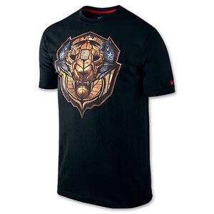"""04484567 Nike LeBron James """"Merit Badge"""" Dri-Fit T-Shirt Black Men's Large ..."""