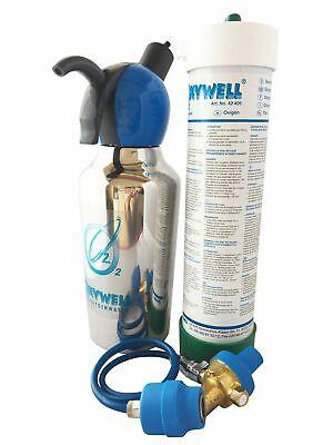 1 Liter Zubereiter blau mit 10 Patronen Oxywell Sauerstoffwasser Set gebr.