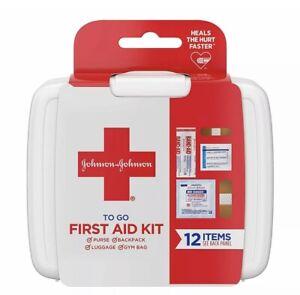 Johnson & Johnson To Go First Aid Kit 12 Items (6 Kits)