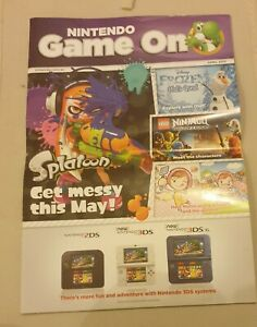 Nintendo Game On Promo Promotional Catalogue Free Postage