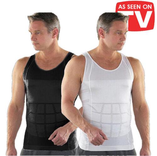 Men Slimming Shirt Tummy Control Tops Body Shaper Underwear Shapewear Vest Tank
