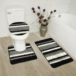 Abby 3 Piece Bathroom Rug Set Bath