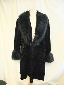Faux Black Collar Xl da Fur Shaggy donna Cappotto Somerset 2069 Emma bracciali Persian XqRwTX0