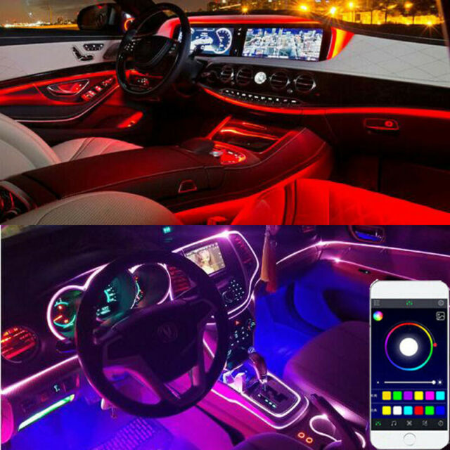 Each strip has 30 LED/'s BLUE LED FOOTWELL//INTERIOR STRIP LIGHTING 2x50CM