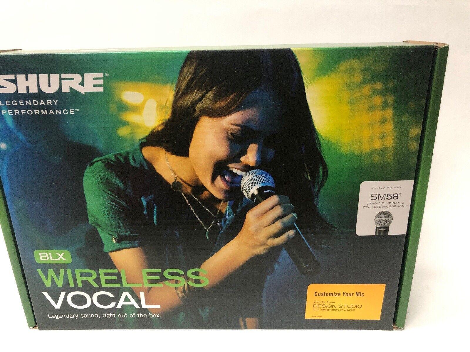 Shure BLX24 SM58 (H10) Handheld Wireless System