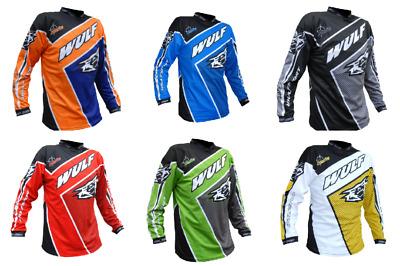 Wulfsport Red Pit Shirts Motorbike Motocross MX Leisure