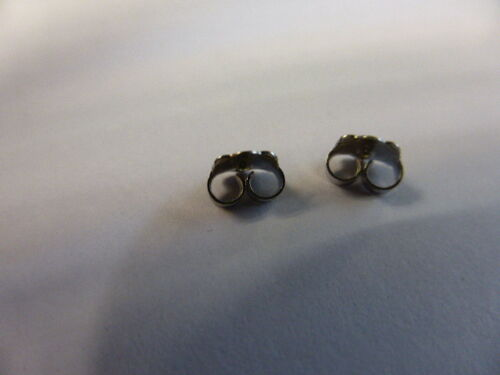 1 pair 9ct WHITE GOLD earring backs//scrolls LARGE size