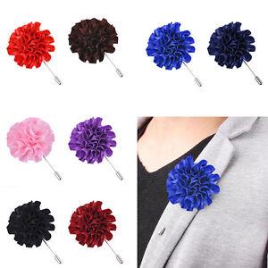 Flower-Floral-Lapel-Pin-Stick-Tie-Brooch-Boutonniere-Handmade-Mens-AccessoriP-U