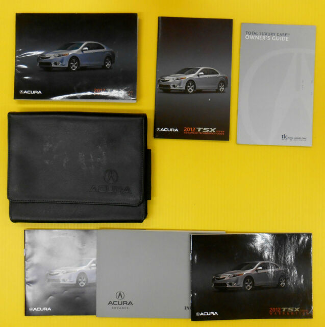 TSX Sedan 12 2012 Acura Owners Owner's Manual Set With