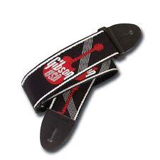 """Gibson Tracolla Nylon Guitar Strap woven red logo 2"""" ASGG-600 ww ship CHITARRA"""