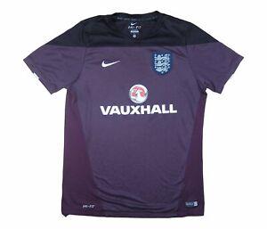 Inglaterra 2014-15 autêntico pré-Combinar Com Camisa De Treinamento (excelente) Camisa De Futebol M
