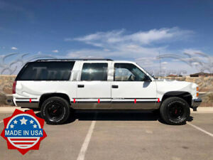 1992 1999 Chevy Gmc Suburban N Flare Chrome Rocker Panel Trim Stainless Steel Ebay
