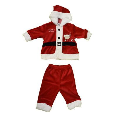 Costume Babbo Natale con Cappello idea Regalo Neonato Ciniglia Natalizia Rosso | eBay