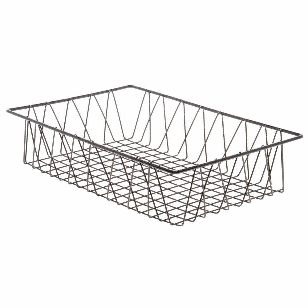 Metal Wire Basket Rectangular Espresso - 8  L x 12  W x 4  H