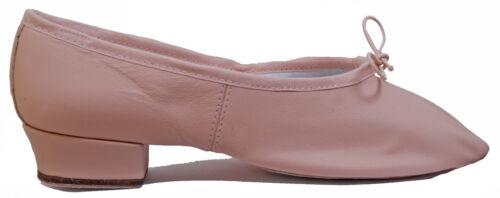 Pink Leather Split Sole Ballet upper 1/'/' heel Bloch Paris Teaching Shoes