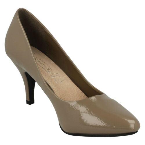 Damen Spot On ohne Bügel Stiletto Absatz Formelle Spitze Schuhe F9905