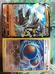 Pokemon Ultra Rare Holo rapid strike Urshifu V energy Card SWSH107 140/163