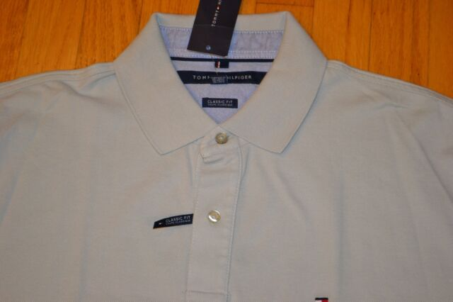 b499e4e6 Tommy Hilfiger Short Sleeve Polo Shirt Men's Size: Large Color: Silver  Birch NWT