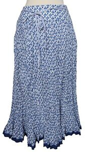 Womens New Long Floaty Lined Crinkle Skirt Fab Edge Detail Motif Ladies Quality