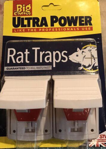 Big Cheese Ultra Power Rat Killer pièges Twin Pack Pré-Appâtés