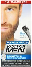 """Just For Men Brush-In Mustache, Beard and Sideburns, Medium Brown - Kit"""