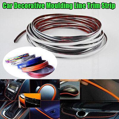 1m x 4mm U Shape Air Vent CAR Interior Grille Rim Chrome Door Edge Trim Strip
