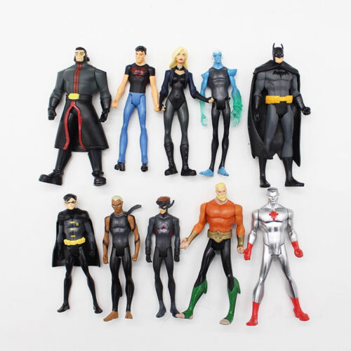 10 Pcs//Set DC Comics Super Hero Superman Batman PVC Action Figure Model Toy