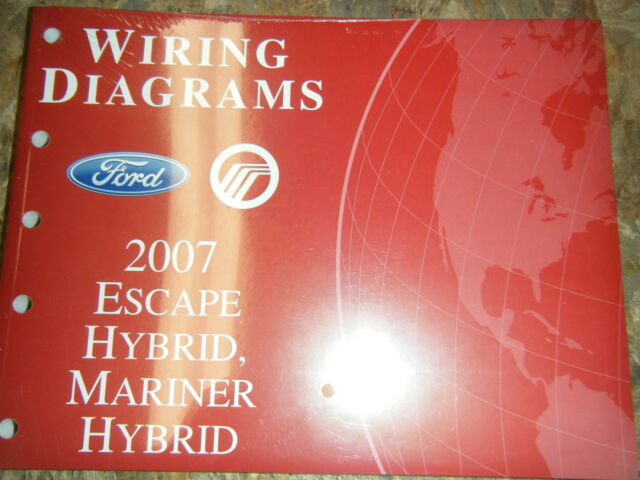 2007 Ford Escape Mercury Mariner Hybrid Factory Wiring