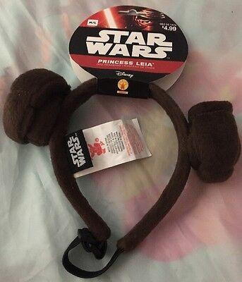 Star Wars Princess Leia Dog Costume Headband~Disney~Medium / Large~New~Official
