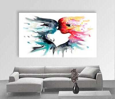 Quadro Moderno Dipinto A Mano.Quadro Moderno Dipinto A Mano Olio Su Tela 2 Anime Dipinto Italiano Painting Ebay