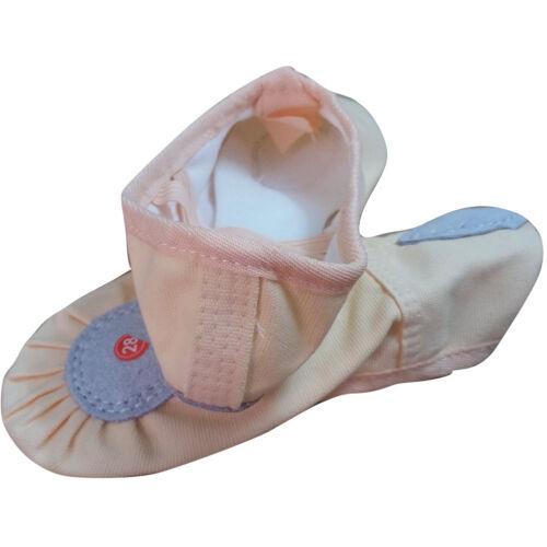 New Pink Child Girls Soft Split-Sole Canvas Ballet Dance Shoes Slippers SZ 8-13