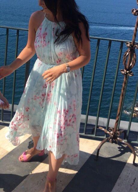 e033ac1c9 Ted Baker Womens Aureila Soft Blossom Hi Low Dress in mint sz 3 UK ...