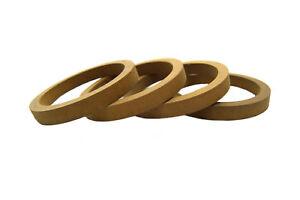 2-Pair-Wood-MDF-Speaker-Spacer-Rings-5-25-034-Fiberglass-Door-Kick-Pods-5-1-4-Inch