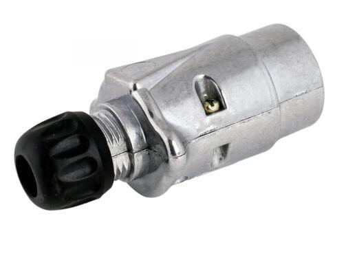 Aluminiumgehäuse Flachsteckanschluss 6,3mm Anhängerstecker 7-polig 12 Volt