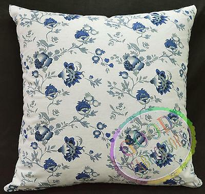 ah252a Ivory Lt.Navy Gray Flower Soft Cotton Ethnic Cushion Cover/Pillow Case