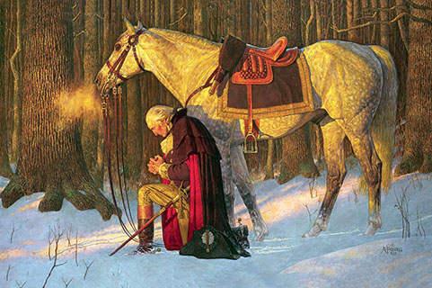 George Washington, Prayer at Valley Forge 16 x 24
