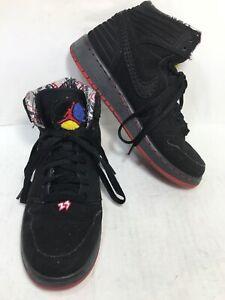 Nike. 580515-032 black youth Michael Jordan retro basketball shoes ...