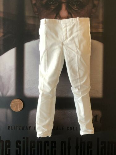 Blitzway Hannibal Lecter Blanco prisión ver Blanco Pantalones Sueltos escala 1//6th