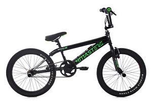 BMX-Freestyle-20-034-Noir-vert-4Masters-Velo-Neuf-Rotor-360-KS-Cycling-668B