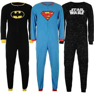 Marvel Einteiler Superman Batman Spiderman Herren Jumpsuit S M L XL XXL neu