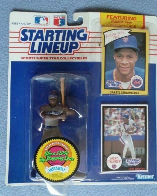 Blue New York Mets 1990  DARRYL STRAWBERRY Kenner Starting Lineup Card
