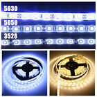 New 3528 5050 5630 Waterproof 5M SMD White LED Flexible Strip Light Adapter DC