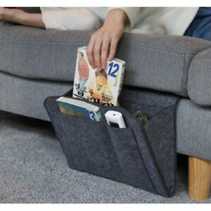 Felt-Bedside-Caddy-Pocket-Bed-Organizer-Storage-Phone-Book-Remote-Holder-Bag-Hot