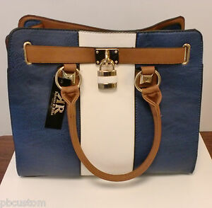 Image Is Loading Rebecca And Rifka Tote Bag Color Navy Blue