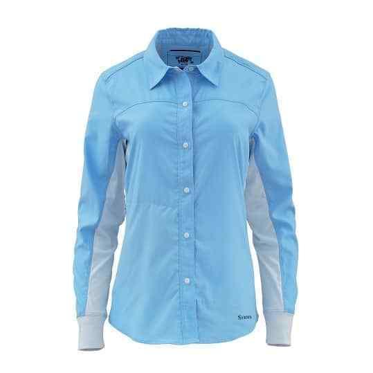 SALE Simms Damens's BiComp LS LS LS Shirt Lt Blau Sm NEW FREE SHIPPING c5af3a