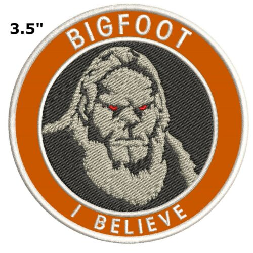 Iron on I BELIEVE Sasquatch Sasquatch in the Forest Bigfoot Lives Patch