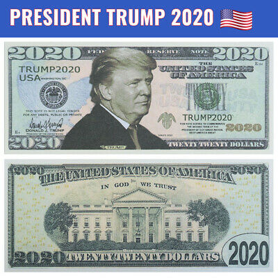 Donald Trump 2020 Dollar Bill Presidential MAGA Novelty Funny Money