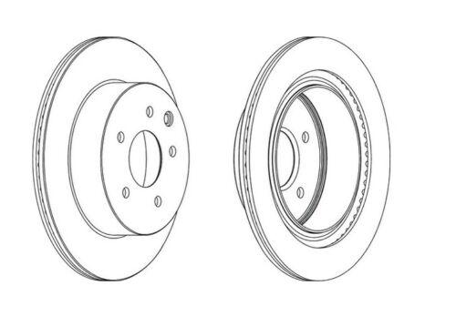 2x NEUF de la marque Ferodo arrière Disque de frein-DDF1579C-garantie de 12 mois!