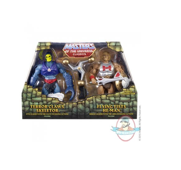 Masters of the Universe Flying Fists He-Man & Terror Claws Skeletor