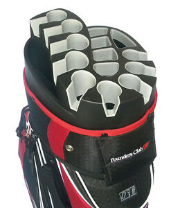 Founders-Club-Premium-Cart-Bag-with-14-Way-Organizer-Top-Red